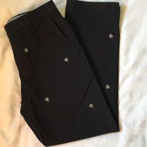 Brooks Brothers Milano black dragon print pants